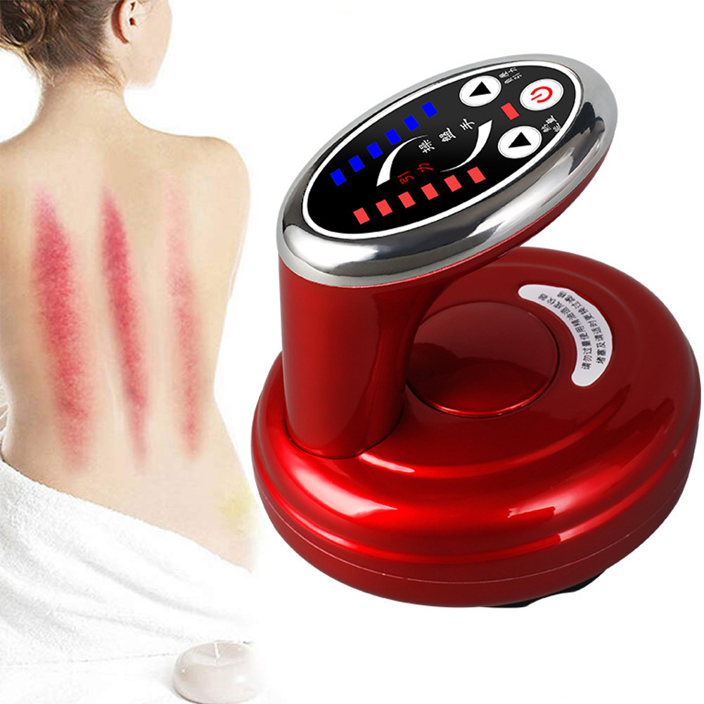 Body Guasha Masssage Machine Vacuum Cupping Body Massager Suction Scraping Magnetic Wave Physiotherapy Clearing Damp Therapy