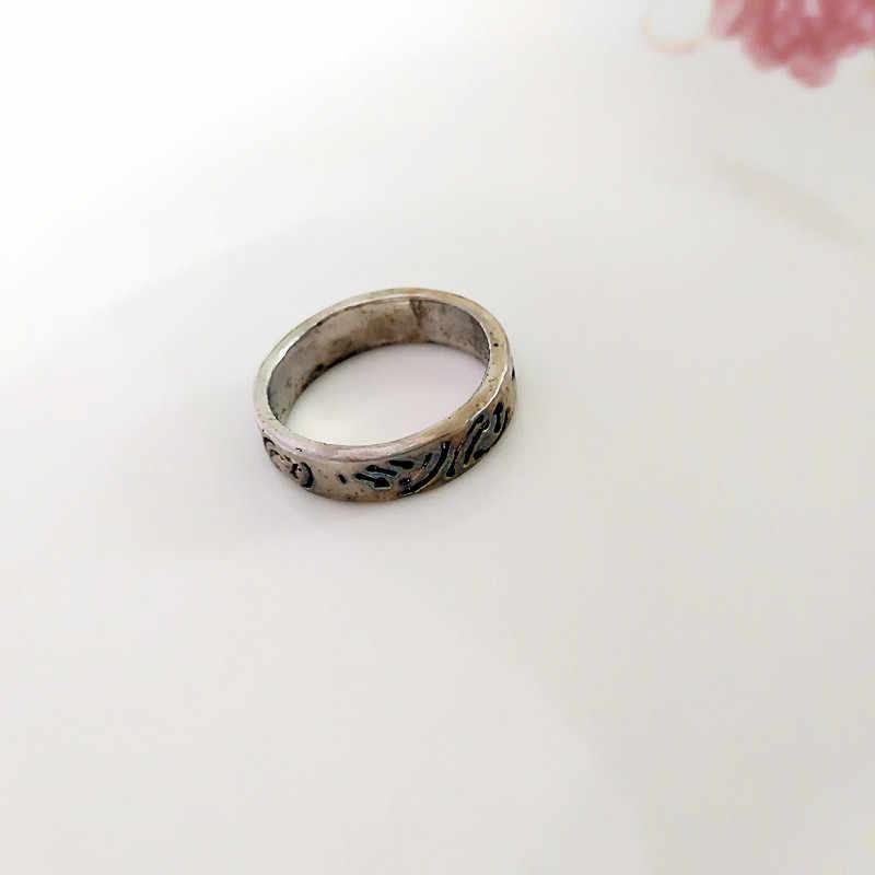 Старинные серебряные Ретро панк металлические кольца для женщин модные ювелирные изделия оптом