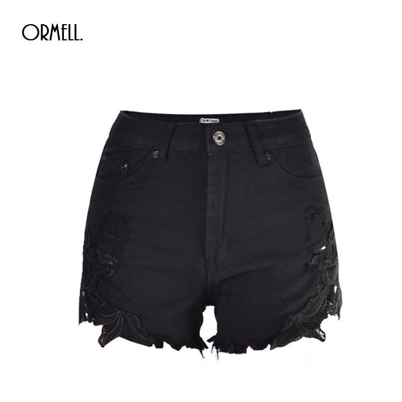Womens Black Jean Shorts Promotion-Shop for Promotional Womens ...