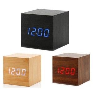 Mini Wood Sounds Control Clock