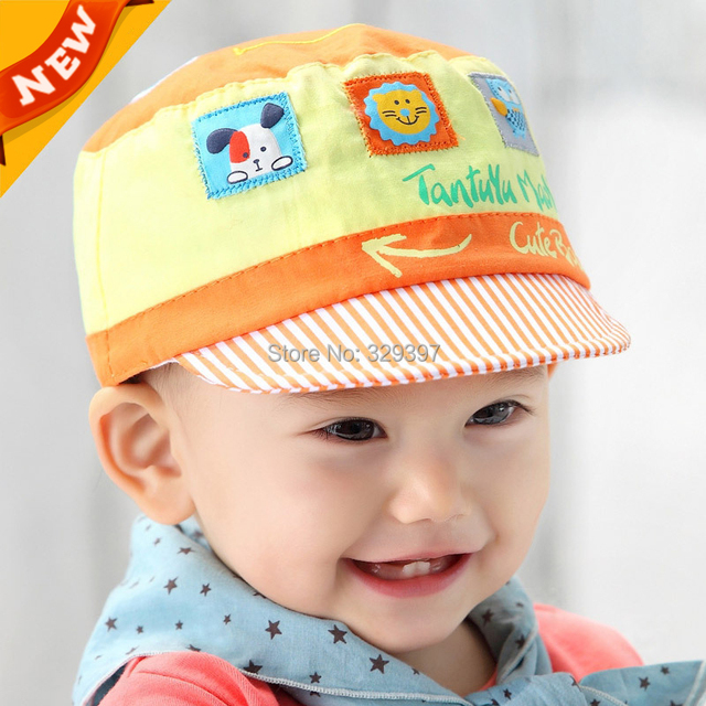 dedfd555f0d68 US $388.16 |Cute Baby Boys Girls hat cotton fitted animal korean Cap  Newborn Toddler Infant Flat baby girl Caps Kids Summer Sun Hats C803-in  Hats & ...