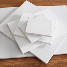 1pc Cotton Wood Frame Oil Painting Canvas White Blank Square Painting Plate Wooden Board Frame School DIY Crafts Art Supplies(China)