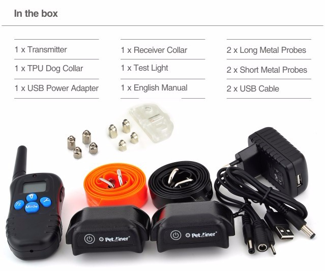 8th Rechargeable Dog Shock Collar PET998DBB