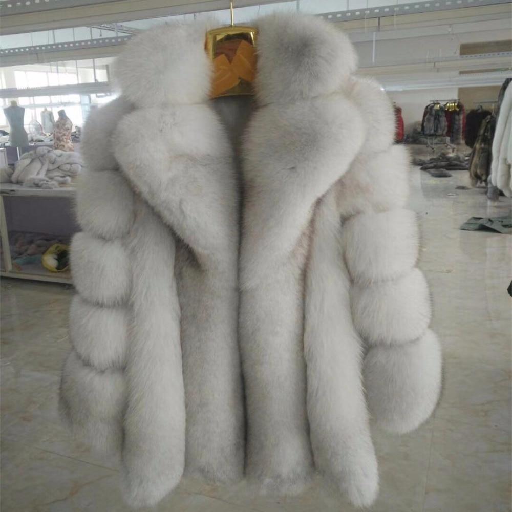 2017 mid winter long thick warm women, fox fur coat, fashion women preferred winter