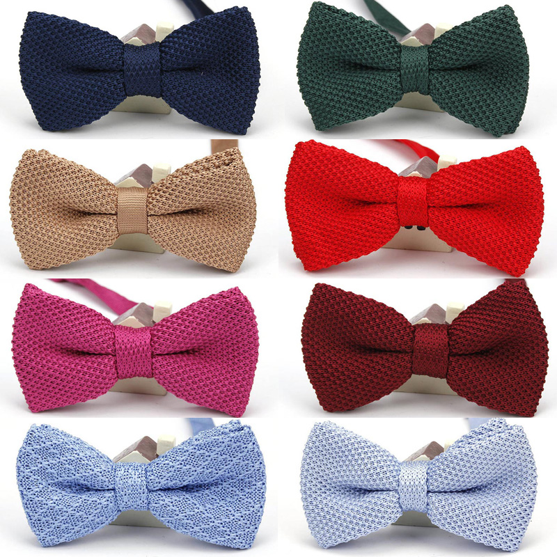 Knitted Leisure Striped Bowties Fashionable Double Deck Neck Wear Woven Neckties