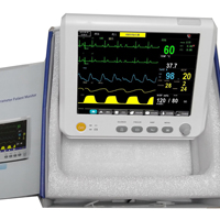 Medical Equipment 7 inch 6 Parameters Patient Monitor NIBP,Spo2, PR,ECG,RESP,TEMP Multi parameters Patient Monitor