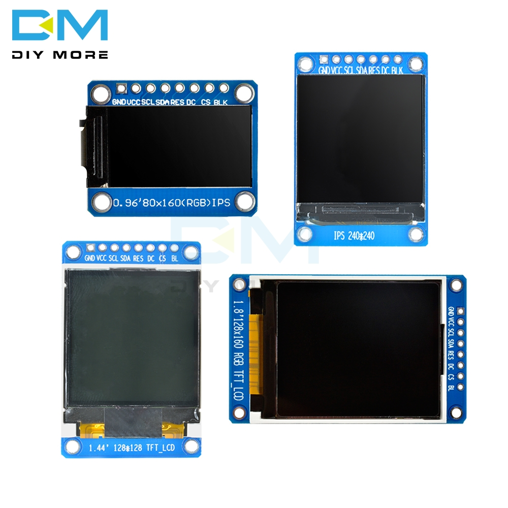 0.96/1.3/1.44/1.8 Inch Serial 128*128 128*160 80*160 240*240 65K SPI Full Color TFT IPS LCD Display Module Board