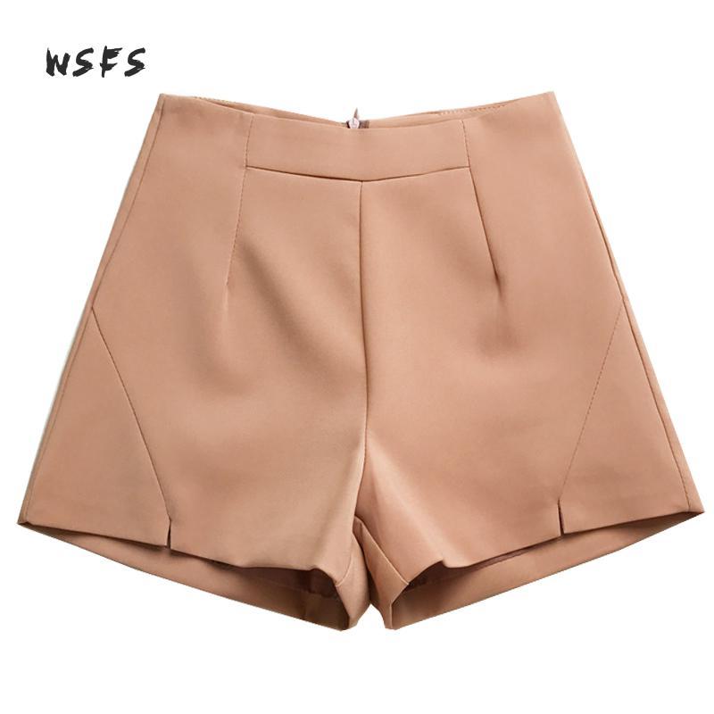 Summer Wide Leg Shorts Women High Waist Work Shorts Black Caramel Short Feminino Boots Palazzo Office Suit Shorts Flare Trousers