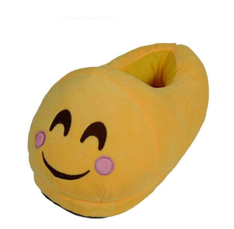 Jimshop Emoticon Face Plush Slipper Expression Men And Women Slippers Winter House Shoes Free Shipping high quality plush slipper expression men and women slippers winter house shoes one size