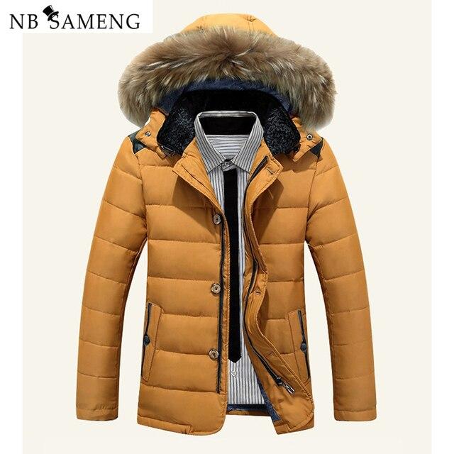 Зима Теплая Куртка 2016 Китай Новый Мужчины Длинные Марка Одежда Пушистый Капюшоном Утка Вниз Пальто Мужские Стильный Импортные Куртки NSWT218