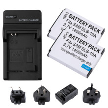 2Pcs SLB-10A SLB10A SLB 10A Camera Battery + wall Charger for Samsung EX2F WB150F WB250F WB350F WB750 WB800F WB500 WB550 HZ10 цена
