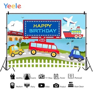 Image 3 - Yeele Transportation Bus Car Airplane Ship Birthday Photography Backgrounds Customized Photographic Backdrops for Photo Studio