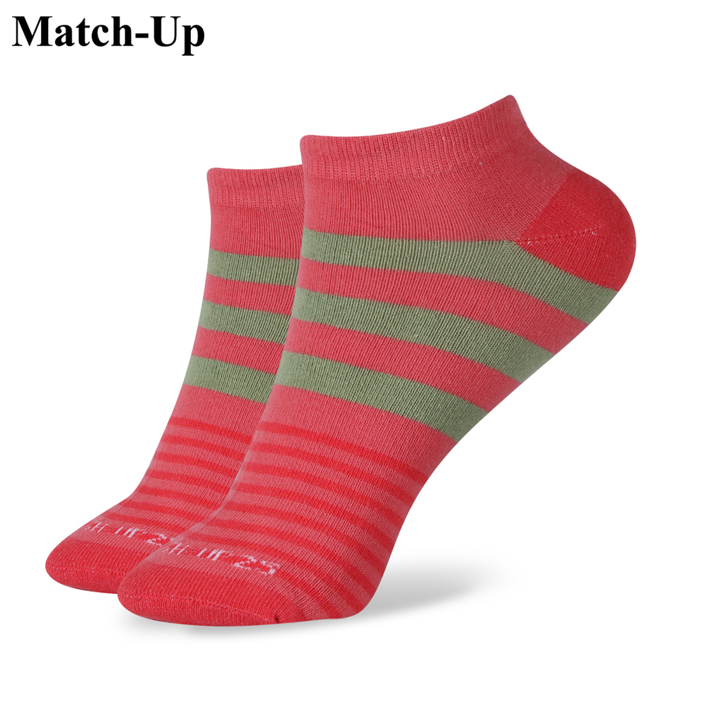 Match-Up New arrived Summer cotton candy patchwork Rainbow Womens Stealth Ship Boat Socks
