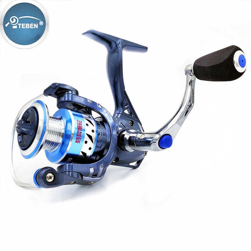 Teben Professional Carp Fishing Reel 12BB Speed Ratio 5.2:1 2000 3000 4000 5000 Model Drag Power 12kg Saltwater Spinning Reel seaknight spinning reel cm ii 2000 3000 4000 5000 max drag 13kg 9 1bb 5 5 1 carbon drag spinning fishing reel for carp fishing