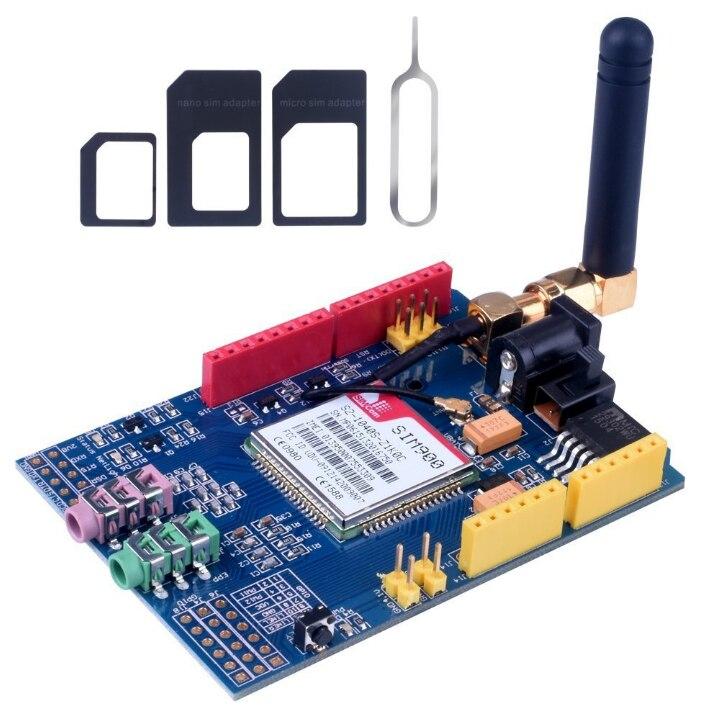 C84 sim900 gprs/gsm placa de desenvolvimento escudo quad-band módulo para compatível