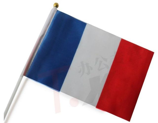 """צרפת דגל הלאומי הדגל באנר 21*14 ס""""מ לא כולל התורן Z422-FG"""