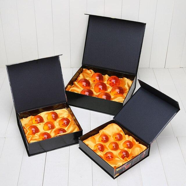 7 pçs/set Dragon Ball Super grande 3.5 cm 4 cm 5.7 cm Bola 7 Estrelas De Cristal PVC Toy Action Figure