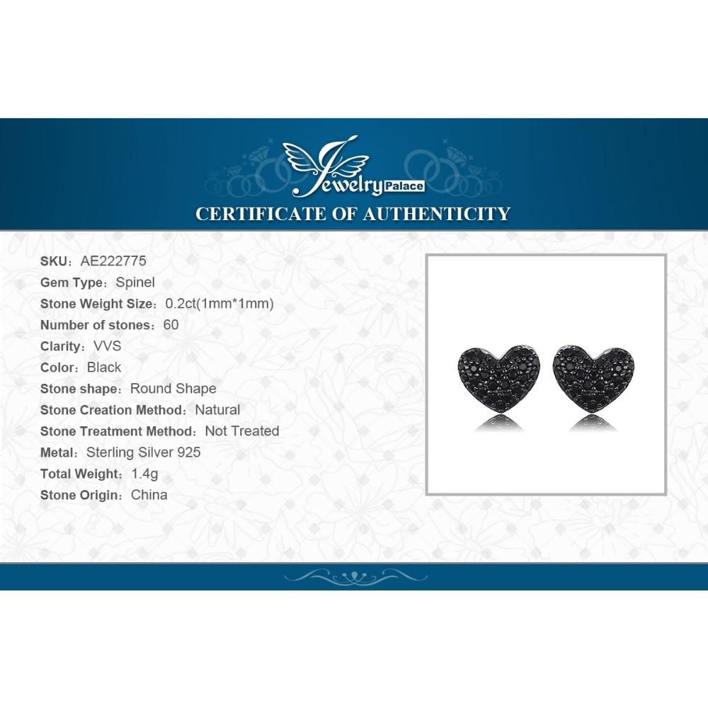 JewelryPalace Fashion 0.29ct natuurlijke zwarte Spinel Love Heart - Fijne sieraden - Foto 6
