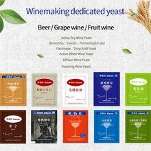 5 г вино химические продукты Аксессуары для виноделия вино фрукты вино пива, ликера дрожжи пектиназа ферментация вспомогательное оборудование бентонит