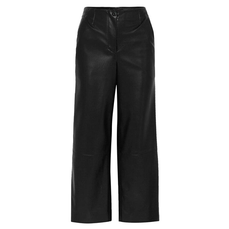 Pierna Más Longer Slim Ancha Length Length Marca Mujer Longitud Agua Wq531 Black Larga black Punk La De Pantalones Moda Lavado Bolsa Pu Cadera Cuero Normal Terciopelo qataTCx