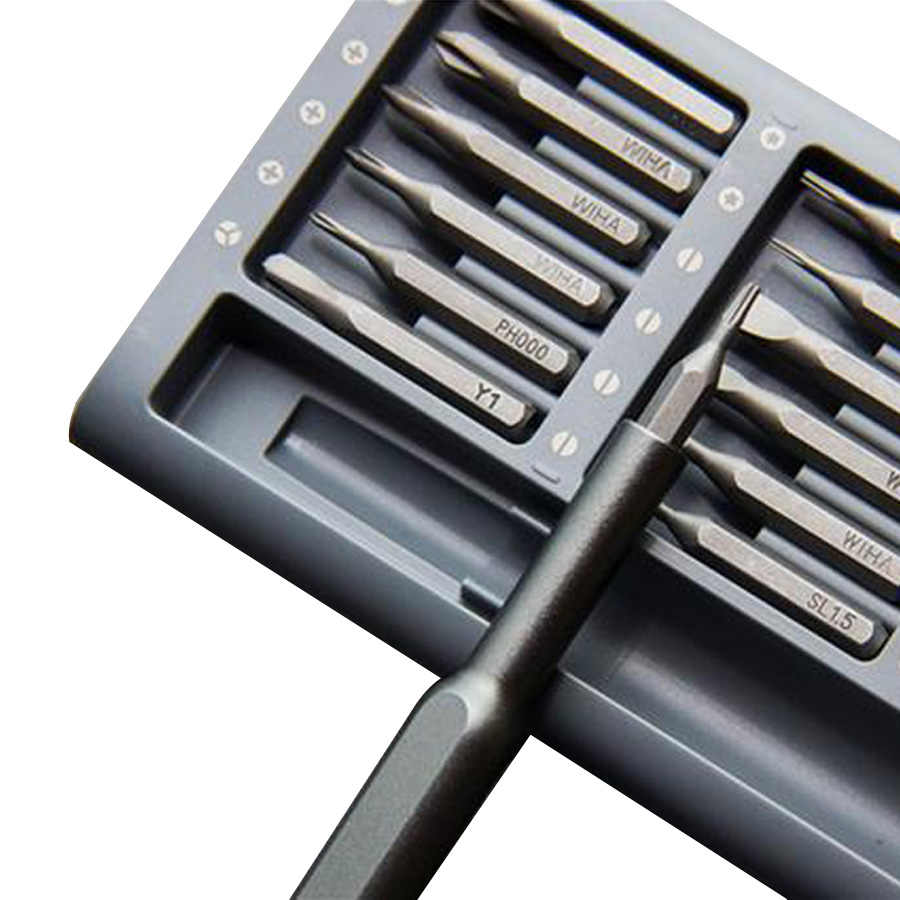 Original Xiaomi Mijia Screwdriver Kit Wiha Daily Use Aluminum Box 24 Precision Magnetic Bits Screw Driver Xiaomi Smart Home Kit
