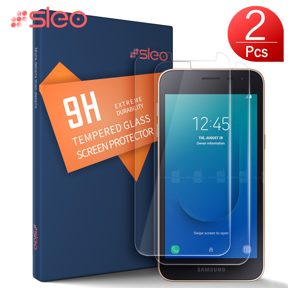 SLEO 2PC For Samsung Galaxy J2 Core Tempered Glass 9H Screen Protector for Samsung Galaxy J2 Core Protective Glass Film