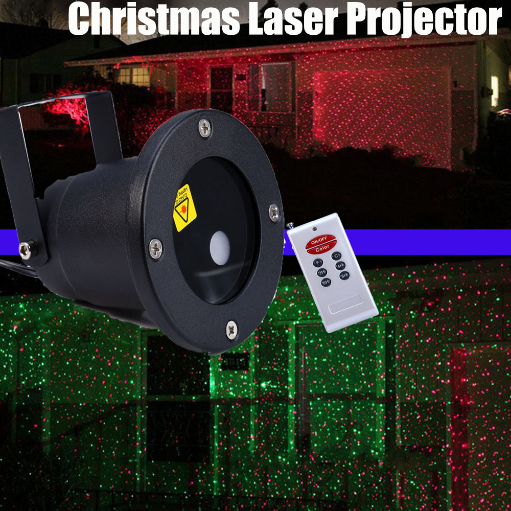 Christmas Laser Projector Outdoor Garden Star Light IP65 Waterproof IR Remote Control Show Red Green Laser