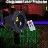 Christmas Laser Projector Outdoor Garden Star Light IP65 Waterproof IR Remote Control Show Red Green Laser