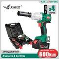 LANNERET 18 V Borstelloze Cordless Impact Elektrische Sleutel 300-600N.m Koppel Huishoudelijke Auto/SUV Wiel 1/2