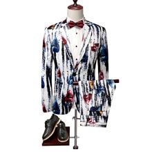 цена Men's Trail Blazers Suits Men's Fashion Casual Boutique Animal Patterns Suits Two-piece 2019 Autumn New Men's Printed Suits онлайн в 2017 году