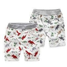"""Для маленьких мальчиков летняя одежда для малыша штаны, с принтом """"динозавр""""; свободные шорты пляжная одежда штаны с манжетами, модные детские хлопковые штаны, для детей в возрасте от 30-35"""