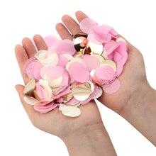 1000 шт./пакет бумажное конфетти микс Цвет для свадьбы День рождения украшения круглый ткани для ясных шаров 2,5 см