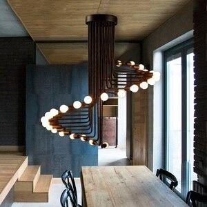 Image 4 - Nowoczesne lampy LED Nordic oświetlenie do salonu lampy bar żyrandol restauracja światła wiszące cafe nowość jadalnia żyrandole