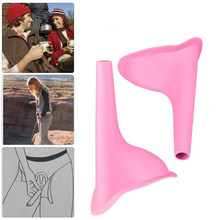 Women Urinal Soft Silicone Urination Device Travel Outdoor Camping Stand Up Pee Toilet Urinals for Girl Women Pink(China)