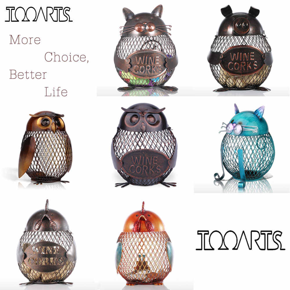 Tooarts Animal Figurines Money Box Handmade Practical Metal Craft  Home Decor Modern Style Home Decoration Accessories Gift