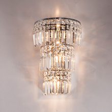 large crystal wall lamp living room modern industrial sconce light decoration