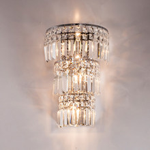 Modern Crystal Wall Light Large Wall Lamp Living Room Modern led Crystal Wall Lamp Large Crystal Wall Sconces for Bedroom Lights(China)