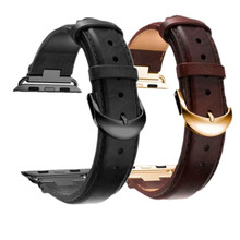 New design Elegant  genuine cow Leather with Diamond watchbands for Apple watch band 38/42 series 3/2/1