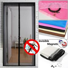Летняя магнитная сетка, Анти Москитная сетка, насекомые, муха, ошибка, занавеска, автоматическое закрывание двери, экран, занавеска для кухни, 5 размеров, Прямая поставка