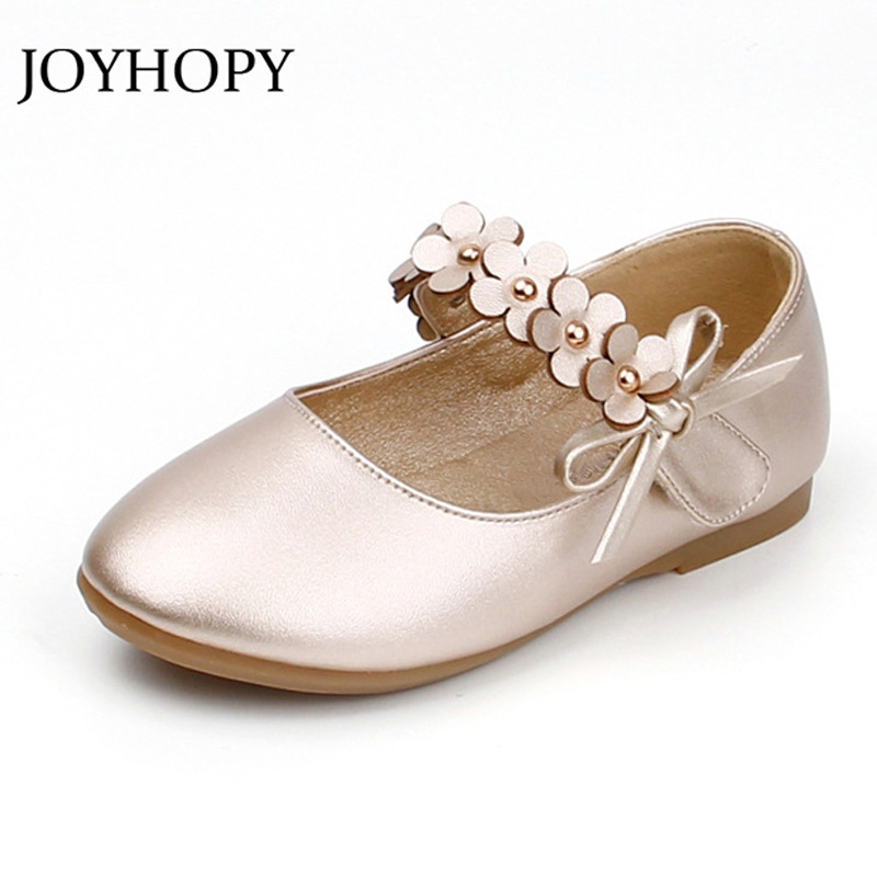Girls Shoes For Kids 2018 Autumn/Spring Fashion Flower Children Shoes For Girl Leather Flower Casual Pretty Child Shoes