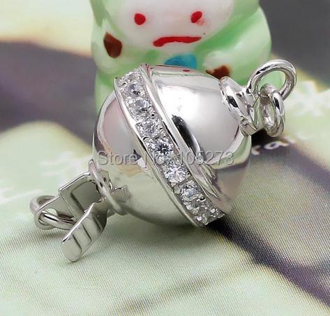Coeur multi-fonctionnel combinaison de 925 fermoir en argent, bricolage de haute qualité collier en cristal de perle naturelle, fermoir bracelet. -L63B