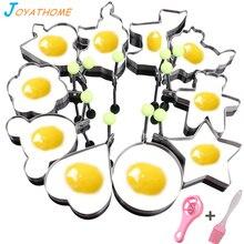 Joyathome 10pcs/Set Stainless Steel Fried Egg Mold Kitchen Tool Pancake Rings Cooking Gadget  Appliances