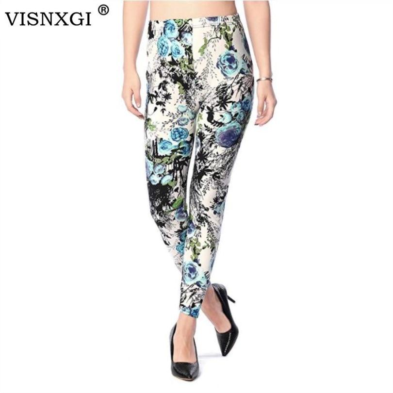 VISNXGI Fitness Leggings Pants Women Workout Leggings Printed High Elasticity Leggins Trouser For High Stretch Casual Legging
