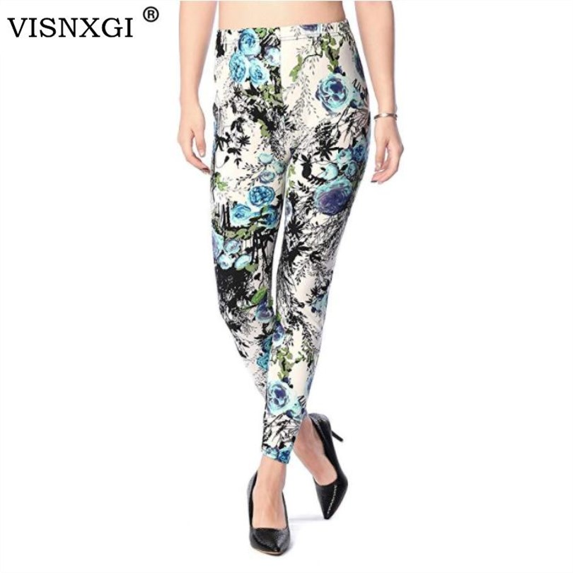 VISNXGI Fitness   Leggings   Pants Women Workout   Leggings   Printed High Elasticity Leggins Trouser For High Stretch Casual   Legging