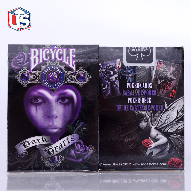 bicycle-anne-stokes-collection-dark-hearts-deck-original-usa-bicycle-font-b-poker-b-font-88-63mm