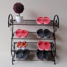 Easy Iron multilayer creative shoe rack simple iron slippers three living room