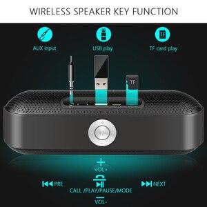 Image 4 - TOPROAD Bộ Loa Di Động Bluetooth Không Dây Âm Thanh Stereo Boombox Loa Có Mic Hỗ Trợ TF AUX FM Radio USB Altavoz Enceinte