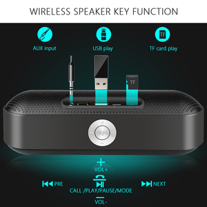 Image 4 - TOPROAD Portable Bluetooth Speaker Wireless Stereo Sound Boombox Speakers with Mic Support TF AUX FM Radio USB Altavoz enceinte