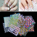30 Hojas de 3D Floral Mixto Arco Corazón Diseño Nail Art Stickers Decals Manicura