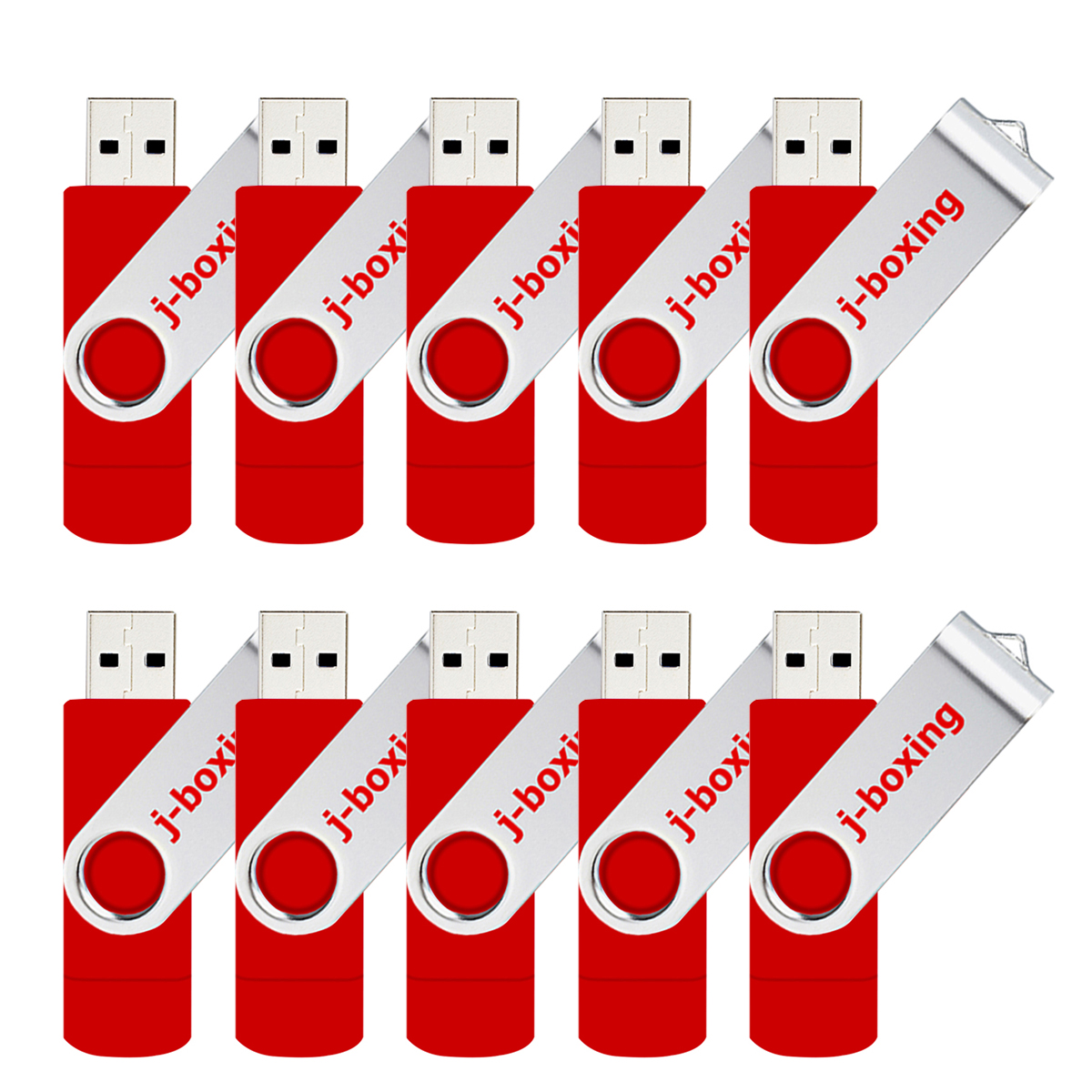 Image 2 - J boxing OTG USB Flash Drive 16GB 32GB Pendrive 128GB 64GB 8GB Swivel Micro USB 2.0 Stick for Android Phone PC 10PCS/Pack-in USB Flash Drives from Computer & Office